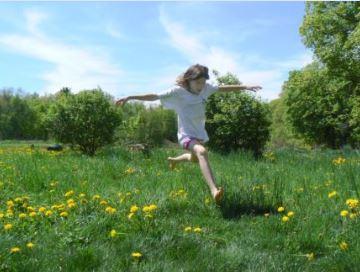 Girl Jumping sm